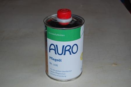 Auro 106 Pflegeöl - Onderhoudsolie aqua in 1 ltr blik