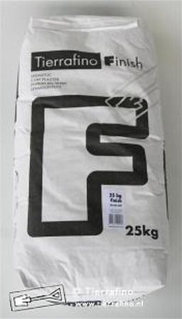Tierrafino Finish  diverse kleuren  25 kg zak