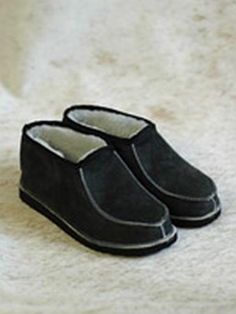 Pantoffel lamsvacht zonder bontrand maat 38-42  per paar