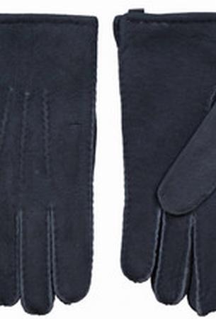 Schapenvacht heren handschoenen kleur Blauw/grijs