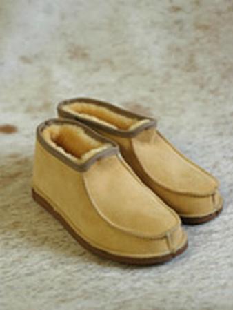 Pantoffel lamsvacht met bontrand maat 47- 50  per paar