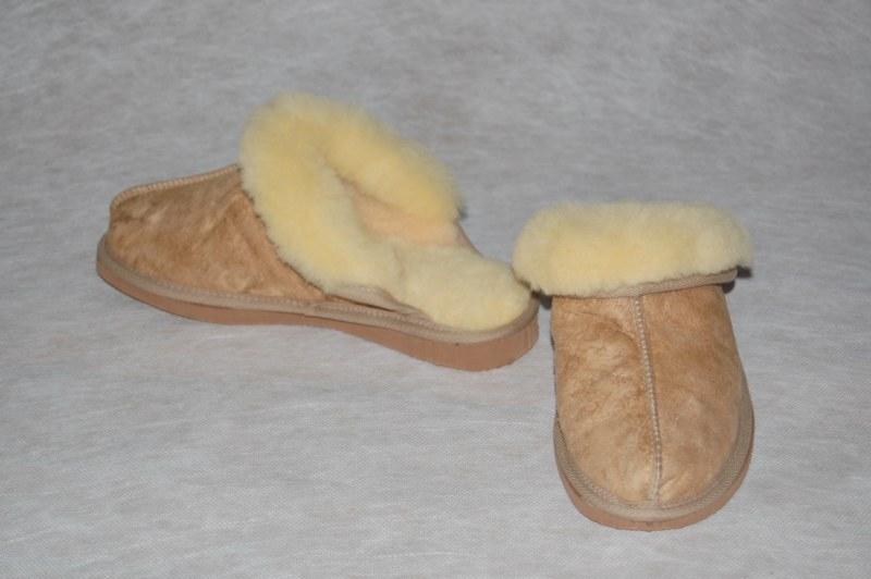 Instap-Pantoffel lamsvacht maat 47-50
