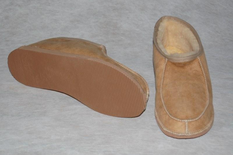 Pantoffel lamsvacht zonder bontrand maat 43-46