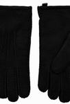 Schapenvacht heren handschoenen kleur Zwart