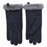 Schapenvacht dames handschoenen kleur Blauw/grijs