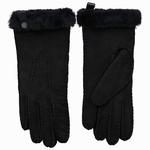 Schapenvacht dames handschoenen kleur Zwart