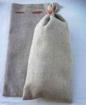 Hiro Jute Deco zakje   50 x 23 cm met roodtextielbandje per stuk