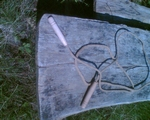 Springtouw met houten handgrepen  lang  250cm per stuk