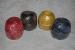 Jute garen gekleurd; getwist en getwijnt 200 gram per stuk
