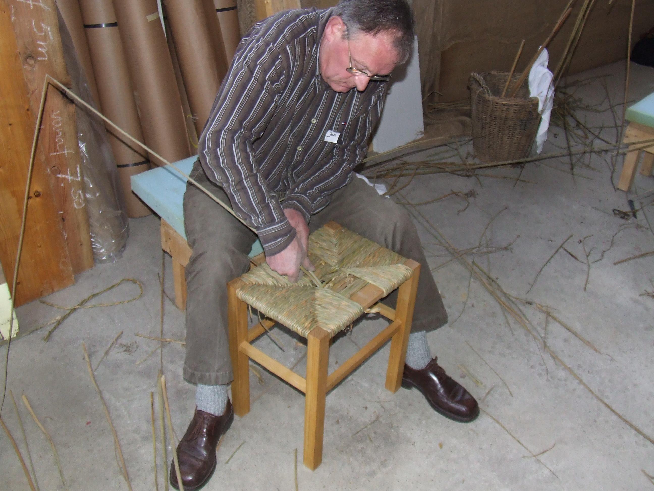 workshop stoelenmatten met hollandse biezen